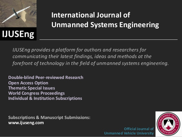 IJUSEng is the official journal of Unmanned Vehicle University